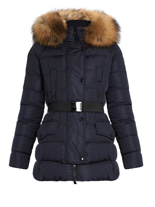 MONCLER Clio Fur-Trimmed Quilted-Down Coat. #moncler #cloth #coat