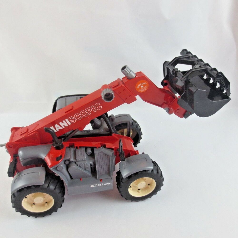 Bruder Toys Manitou Telescopic Turbo Play Tractor With Lift Loader Mlt 633 Red Brudertoys Manitou Barbuda Manitou Turbo
