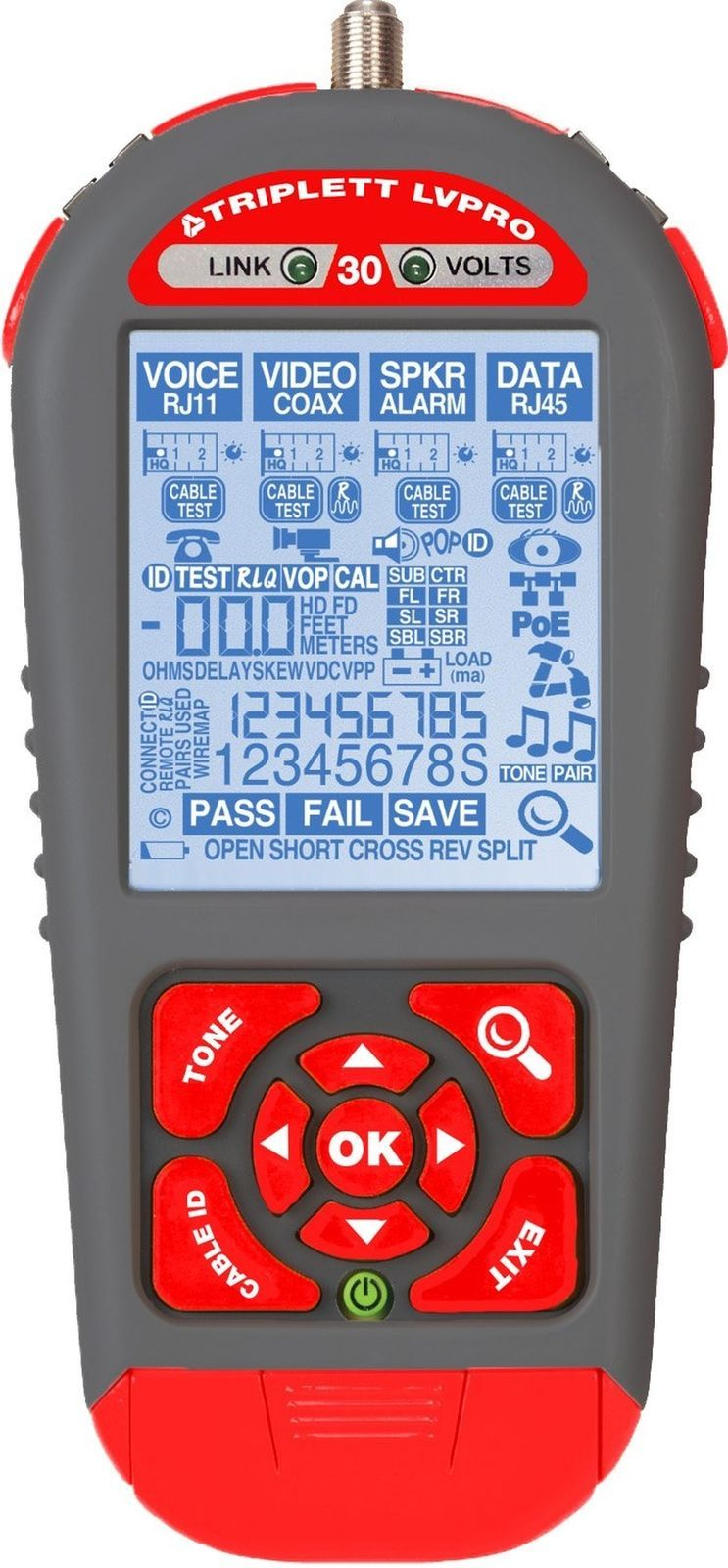 hight resolution of lvpro30 low voltage network cable tester w 12 apps for all wire types triplett ebay