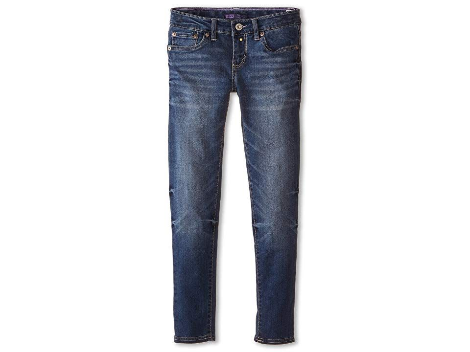 Levisr Kids 710tm Super Skinny Jean Big Kids Indigo Shelter Girls Jeans Take your look from everyday to showstopper in the Levis 710 Legging 710 jean legging boasts a sup...