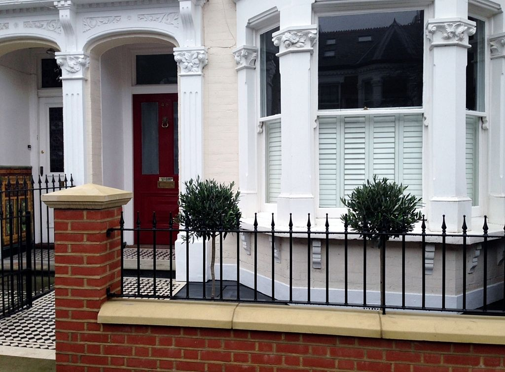 new red brick garden wall london London terrace Pinterest