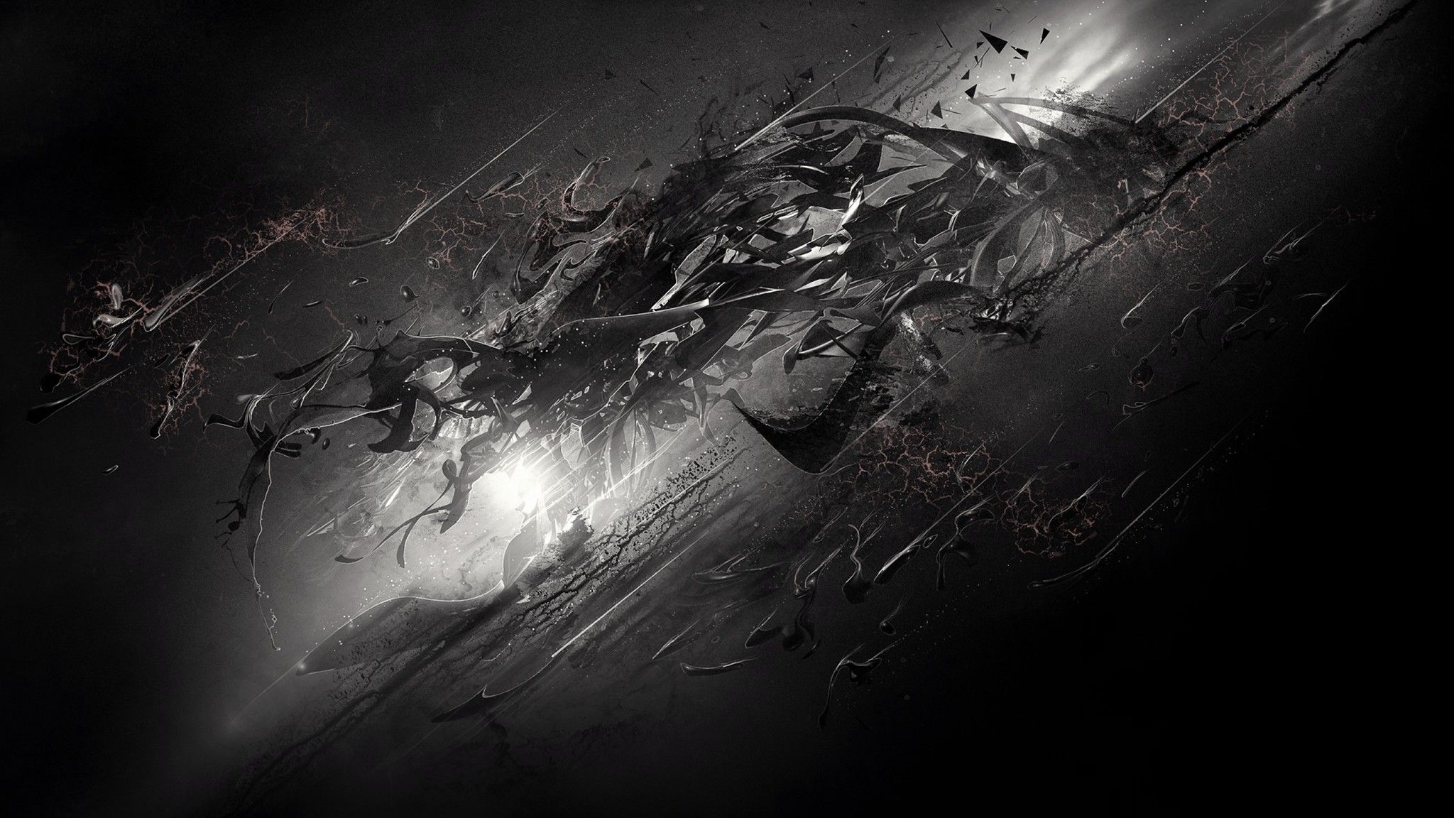 2048x1152 Abstract Dark Desktop Background. Download
