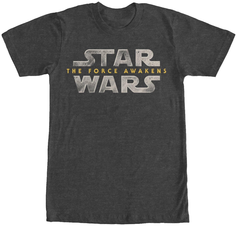 Force Awakens Logo T-Shirt: Star Wars The Force Awakens Mens T-Shirt