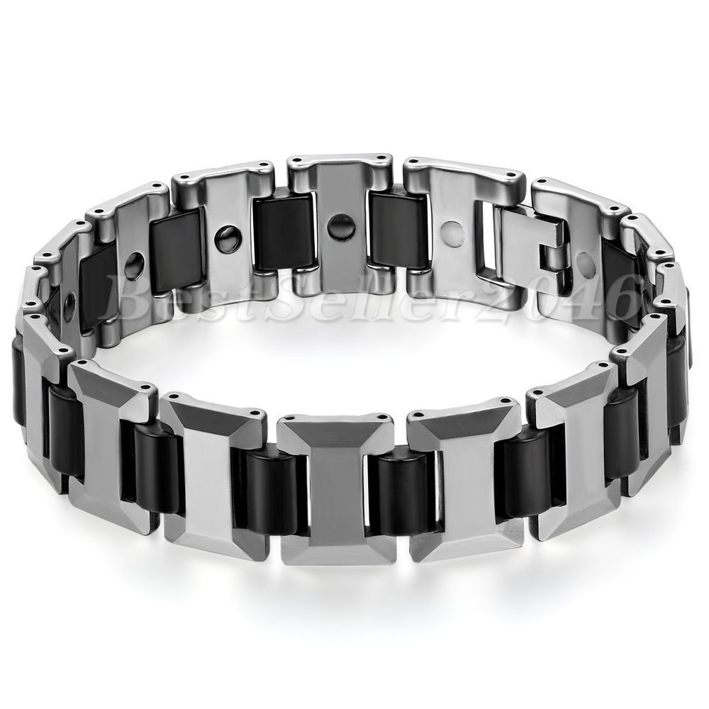 limited with sale czs bracelet rows tungsten carbide of black id pin qty