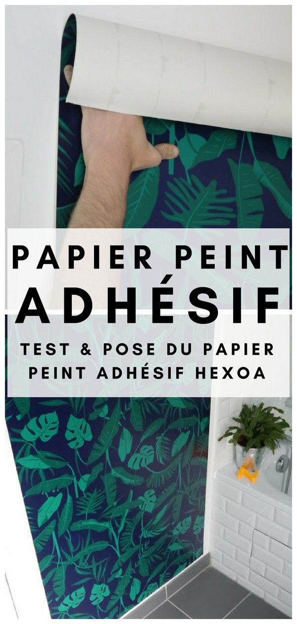 Test, Avis & Pose du Papier Peint Adhésif HEXOA   Papier peint adhésif, Papier peint, Déco ...