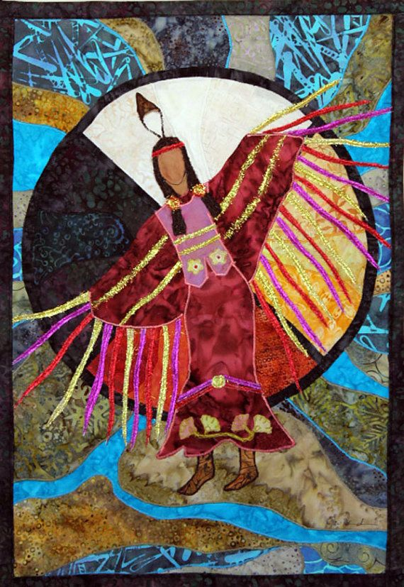 Native American Fancy Shawl Dancer, art quilt