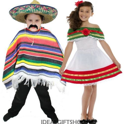 c59bf199378 Child S Mexican Fancy Dress Boys Girls Spanish Costume Wild West Book Week  Senor