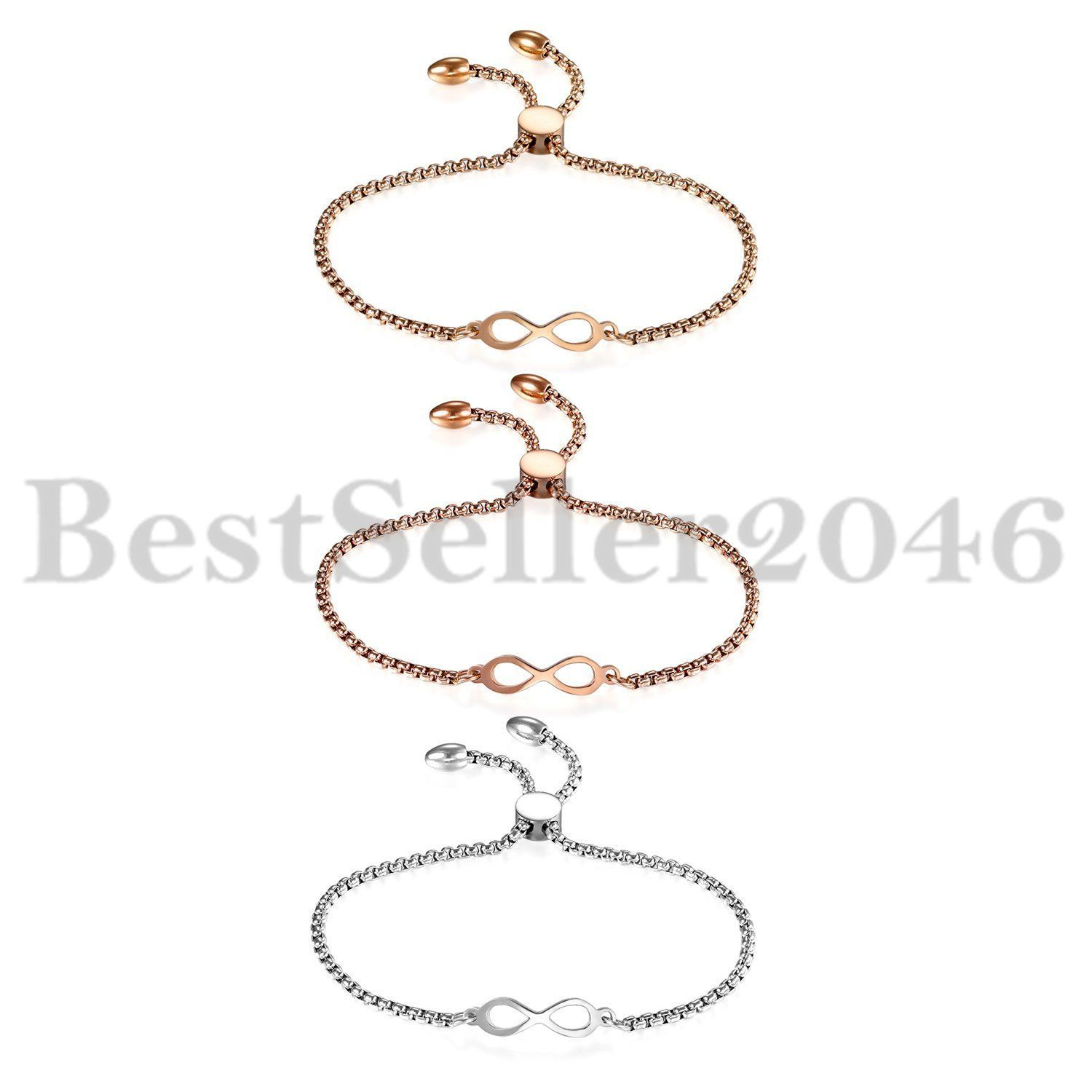 Polished figure infinity pave bracelet bangle simple inspired