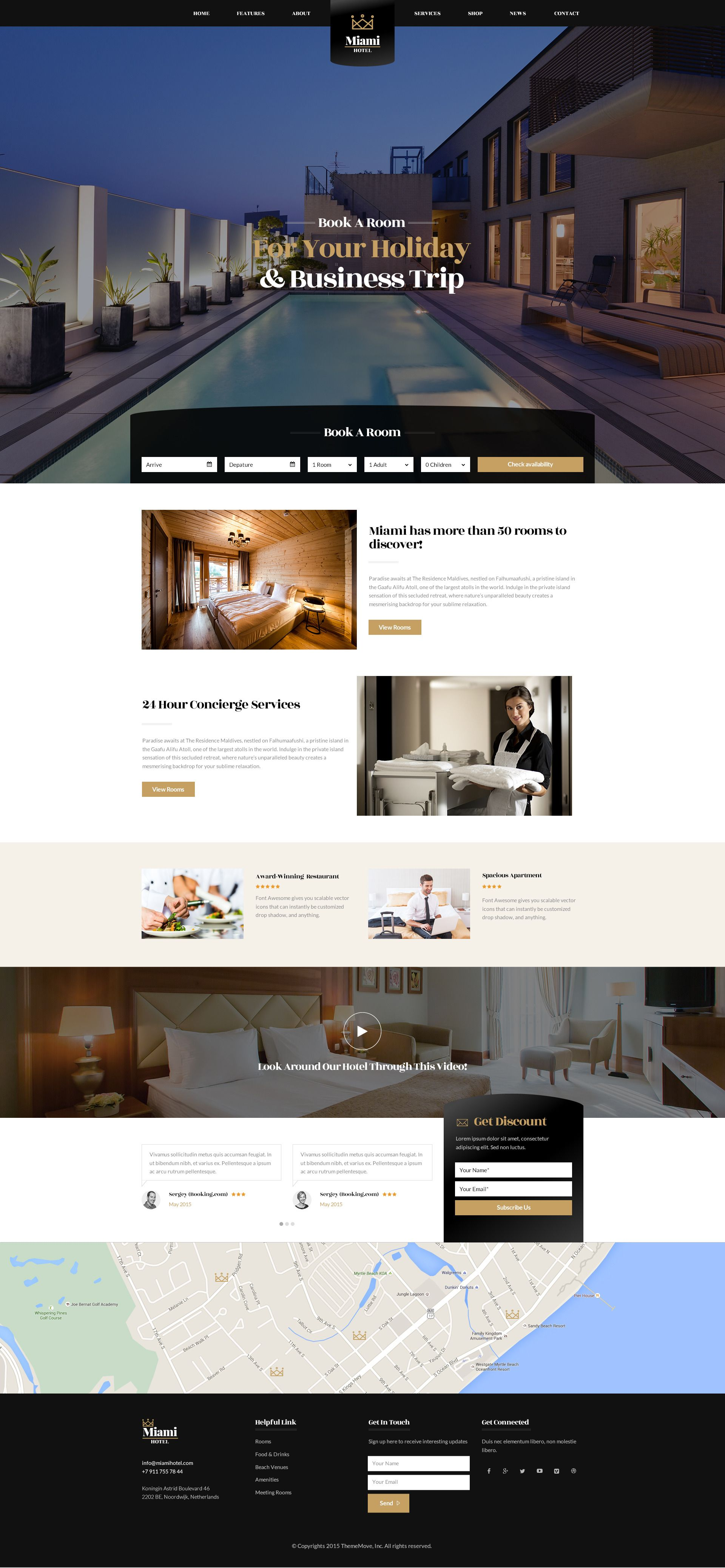 Hotel Room Types: Exquisite Hotel PSD Template Miami Is The Template