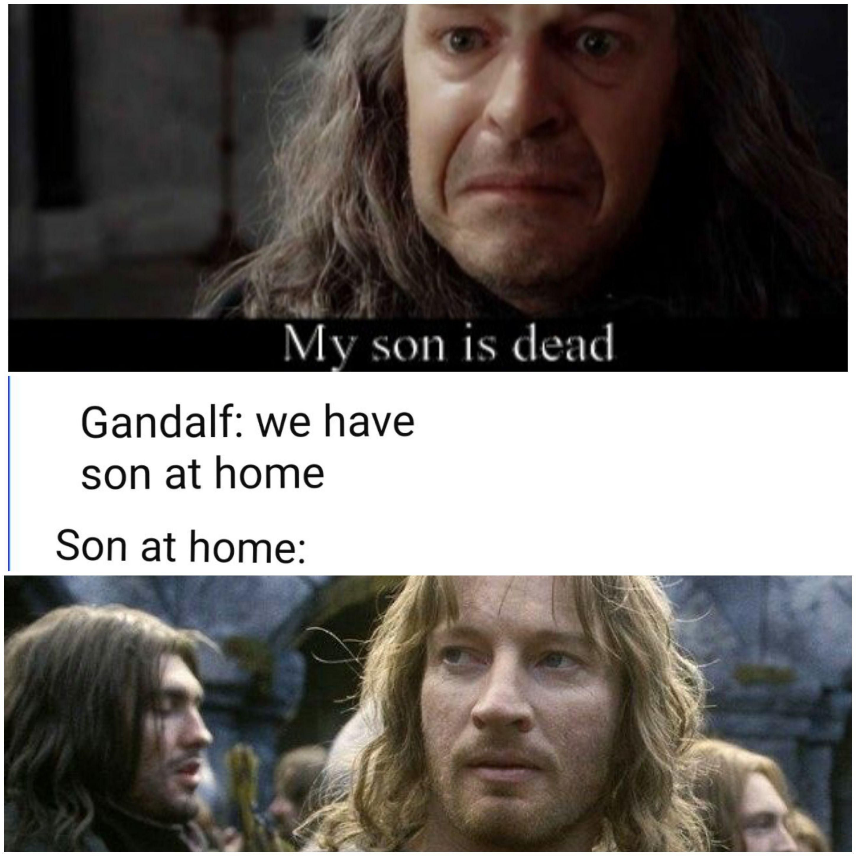 The Salted Boromir Is Particularly Good Lotr Memes Lotr The Hobbit Lord Of The Rings