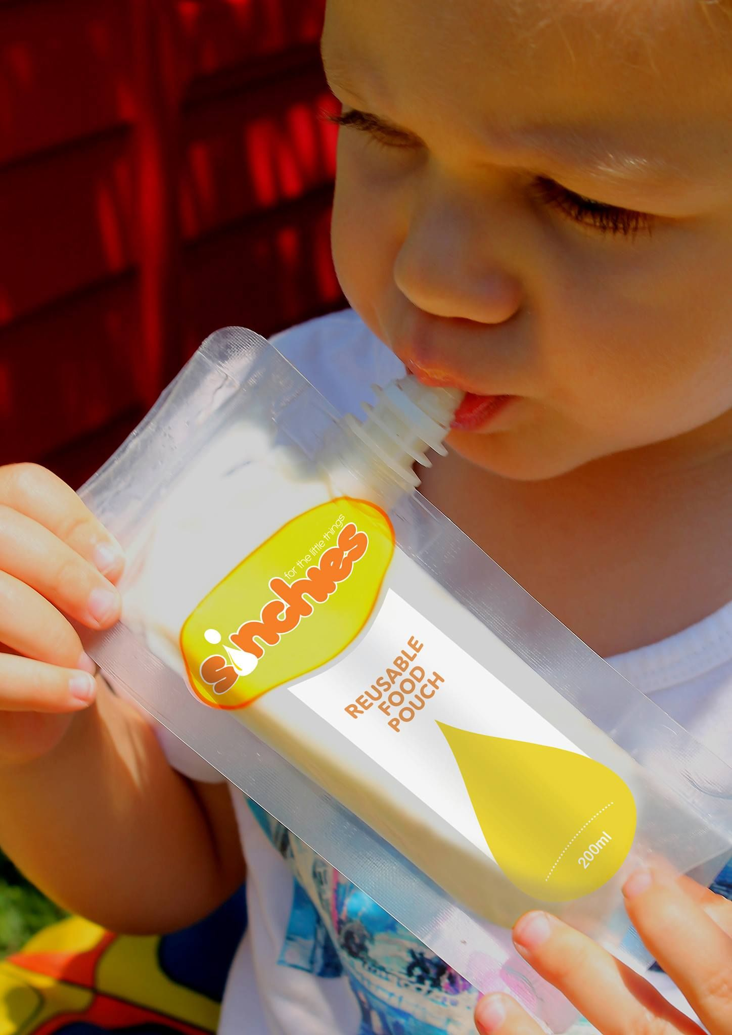 Kids love to use Sinchies reusable food pouches! Try one today!