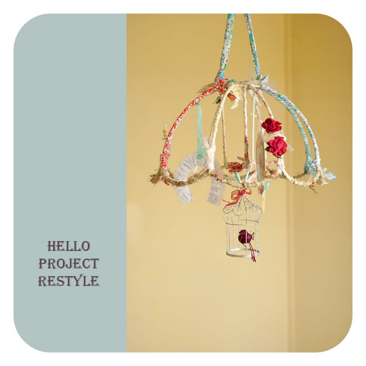 This would be cute to do with an upcycled lampshade or umbrealla this would be cute to do with an upcycled lampshade or umbrealla frame greentooth Choice Image