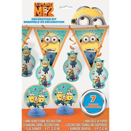 Despicable Me Decoration Kit 7 Piece Walmart Com Minion Party Supplies Minion Party Despicable Me Party