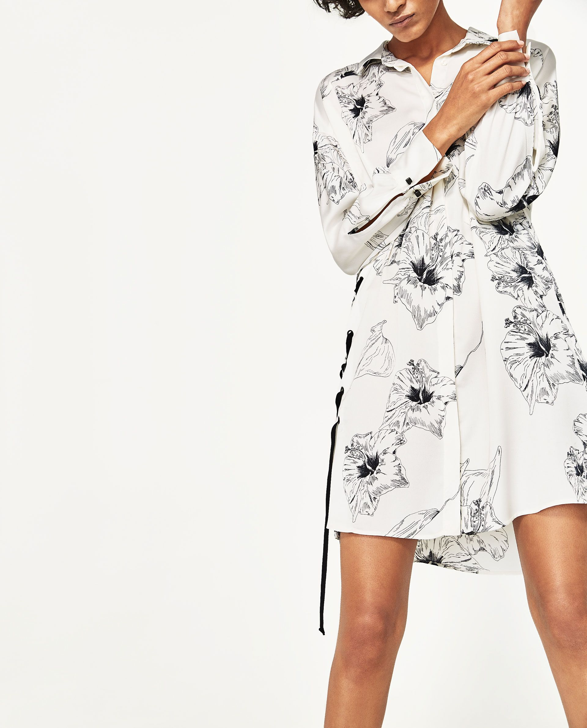 Image of tunic with side bow from zara look pinterest tunics