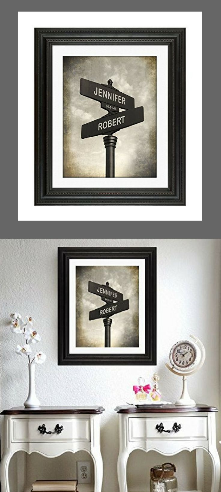 Lovers Crossroads Personalized Wedding or Anniversary