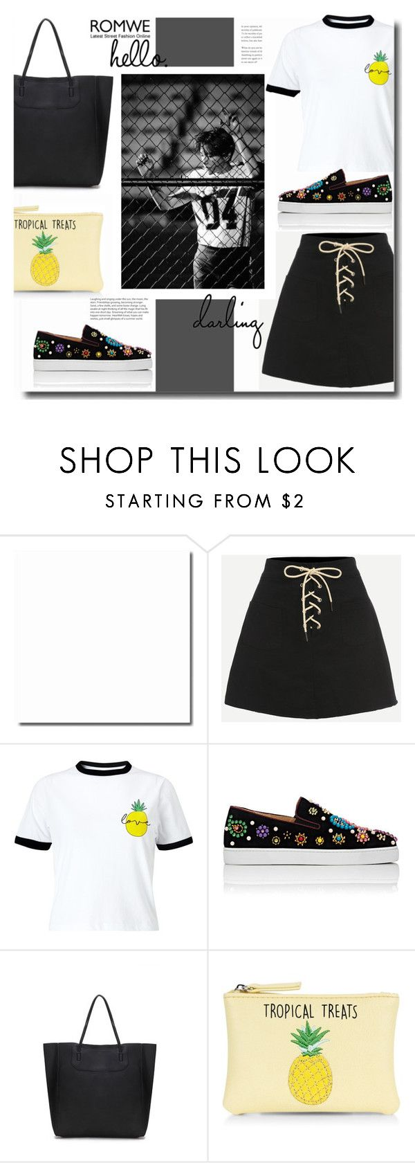 """""""Hello Darling"""" by kts-desilva ❤ liked on Polyvore featuring Miss Selfridge, Christian Louboutin and New Look"""