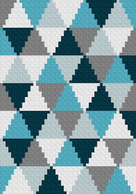 Photo of Triangle C2C Blanket – Free Graph