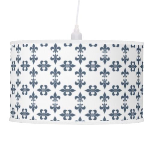 Navy and white fleur de lis lamp shade mozeypictures Image collections