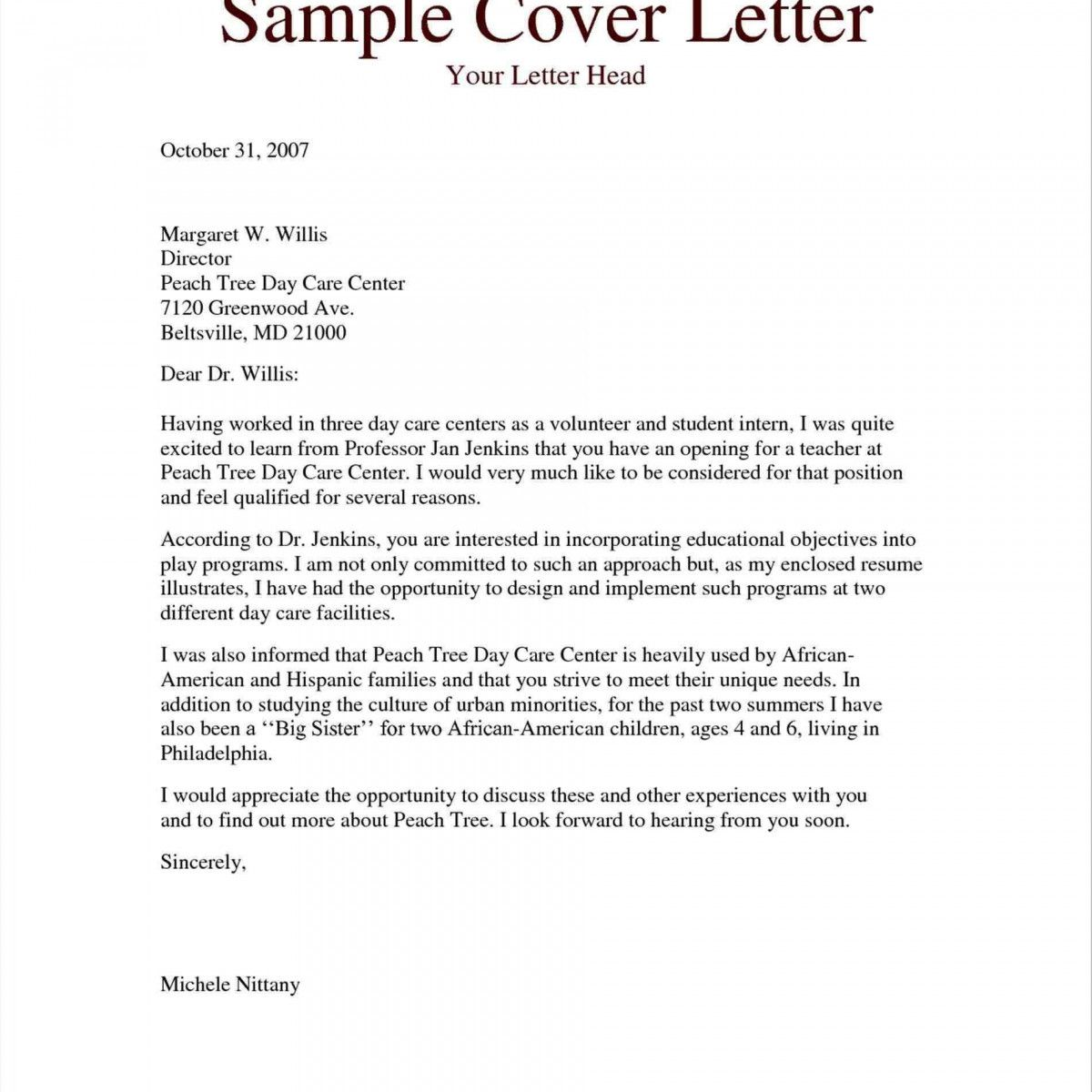 25 Sample Cover Letter For Teacher Assistant Resume With No Experience Awesome