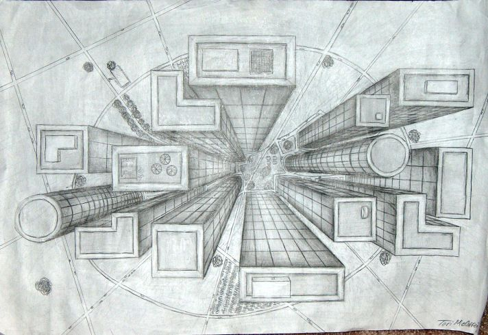 Forums Bird S Eye View Of A City One Point Perspective Point Perspective Perspective Drawing Architecture