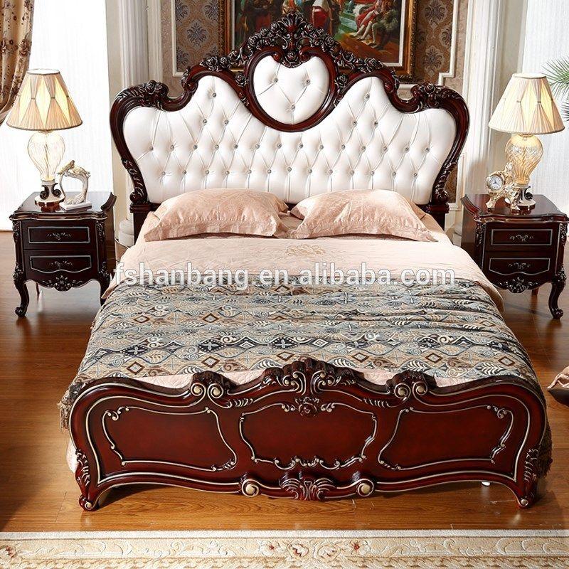 Europeo de lujo barroco rococó francés estilo rey reina tamaño doble ...