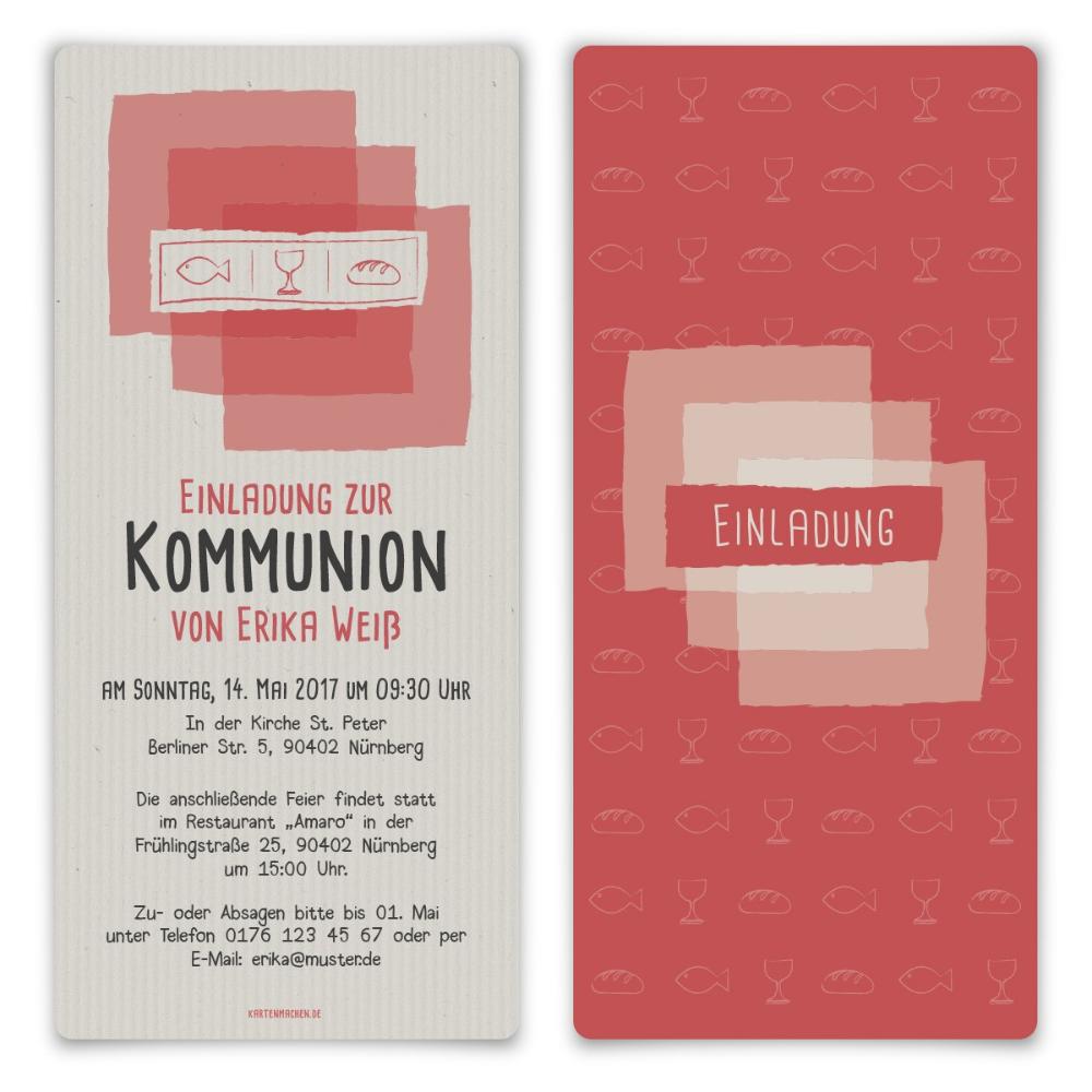 Einladungen Kommunion Abendmahl Selbst Gestalten Einladungskarten Gestalten Kommunion Di 2020