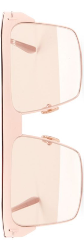 92053319165 Tom Ford West 59MM Square Rose Goldplated Sunglasses