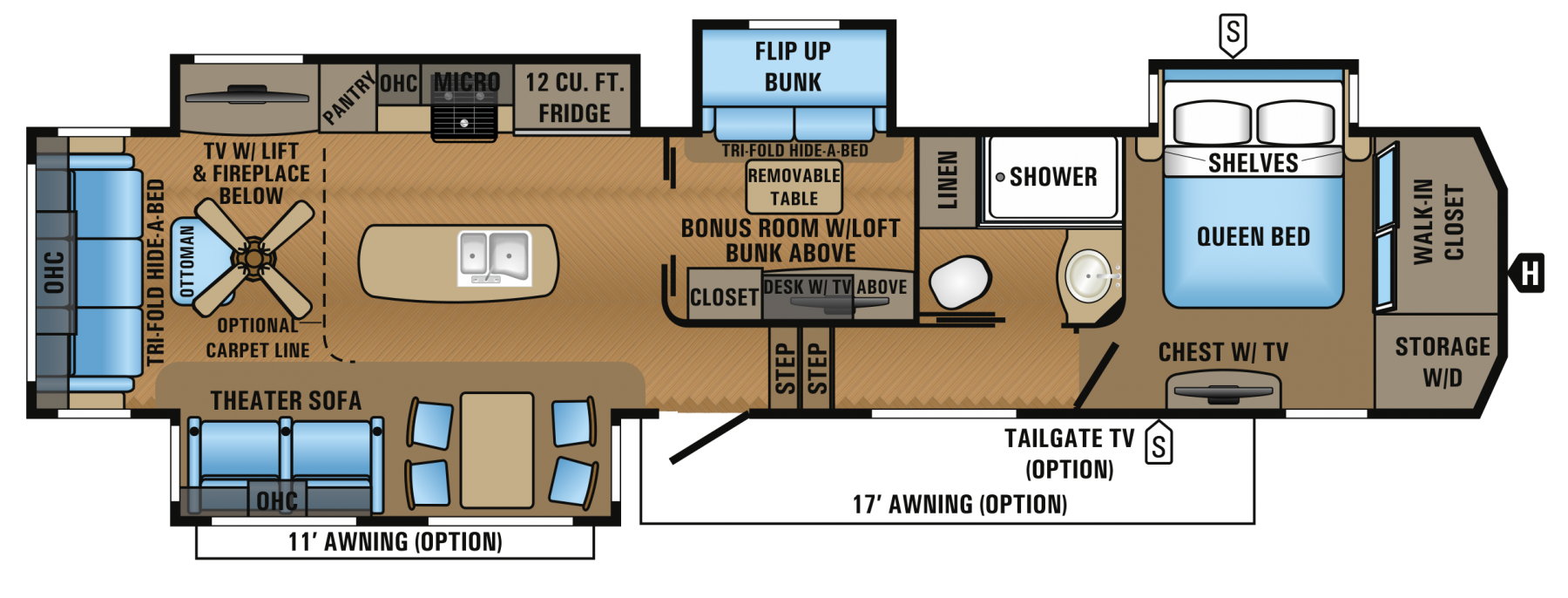 2017 North Point 377RLBH Floorplan too heavy but
