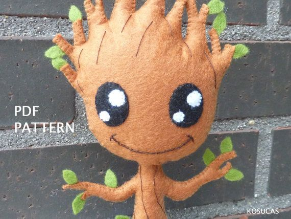PDF pattern to make a felt Groot. | Navidad | Pinterest