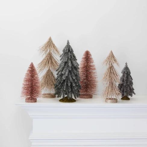 Large Glitter Tree Christmas Tree Decorative Figurine ...