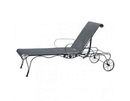 Briarwood Wrought Iron Chaise Lounge With Wheels House Ideas