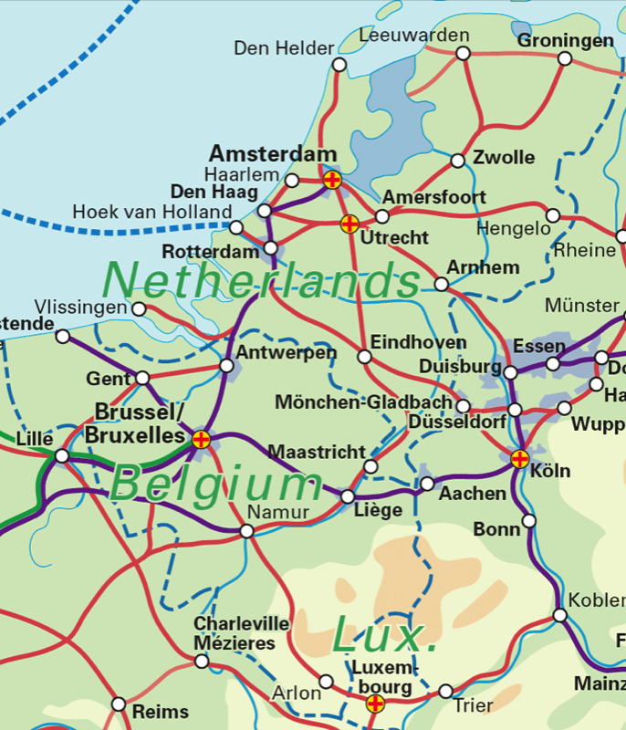 map of netherlands and belgium  Benelux Railway mapBelgium the