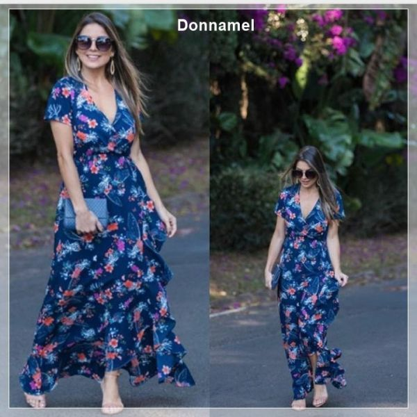 443f20b55 2.3. Vestido em Crepe Bubble | DONNAMEL | Dresses with sleeves ...