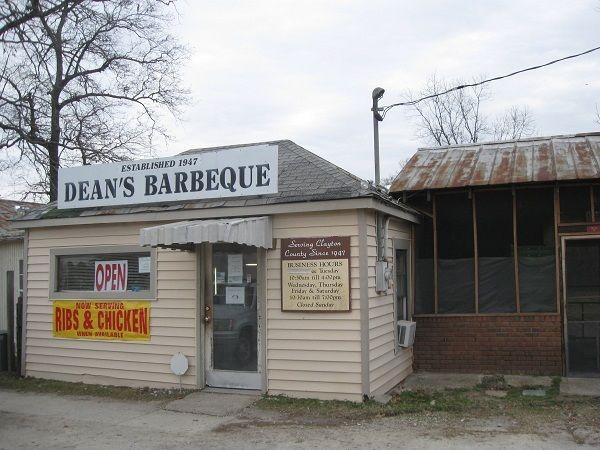 Dean S Barbecue Jonesboro Georgia Barbeque Bbq Signs Georgia Food