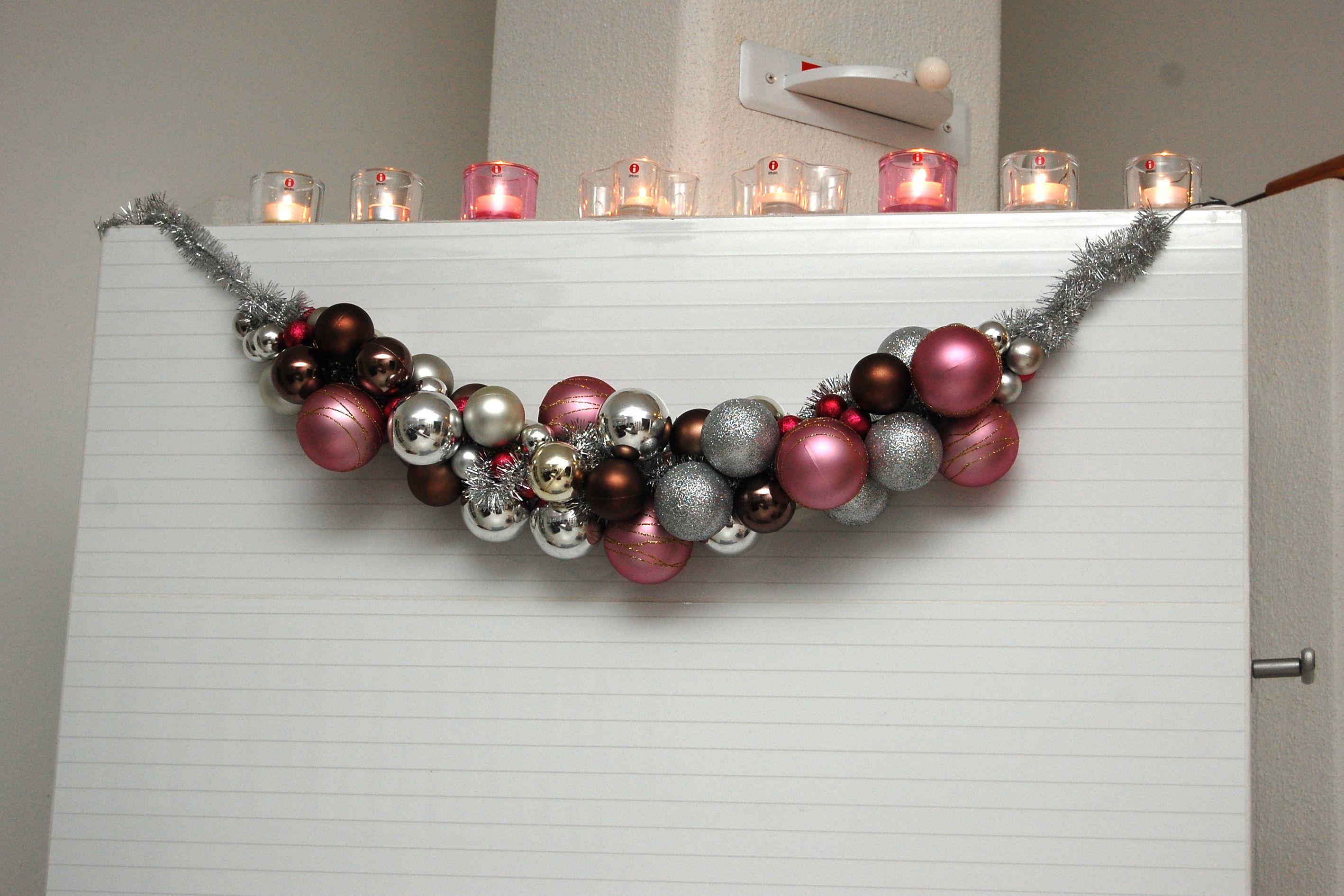 Christmas DIY.  4-vuotiaan taidonnäyte :)