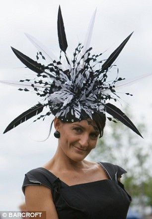 Feathered fancies: Extravagant hats are practically obligatory for Royal Ascot's Ladies' Day.