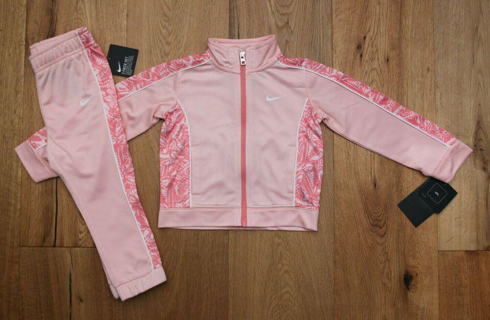 Nike Baby Girl Jogging Set ~ Tracksuit ~ Peach Pink /& White ~