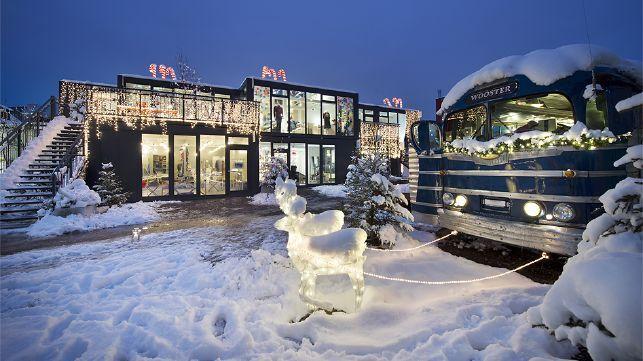 Frau Gerolds Markt Im Schnee