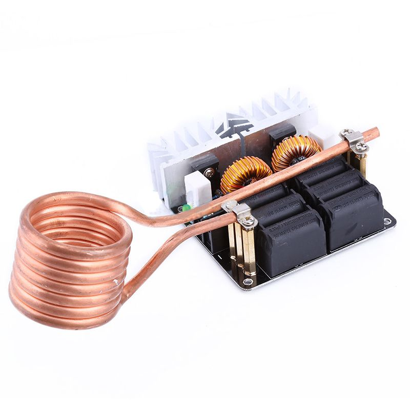 1000w Zvs Low Voltage Induction Heating Heater Diy Board Module With Tesla Coil Induction Heating Tesla Coil Diy Heater