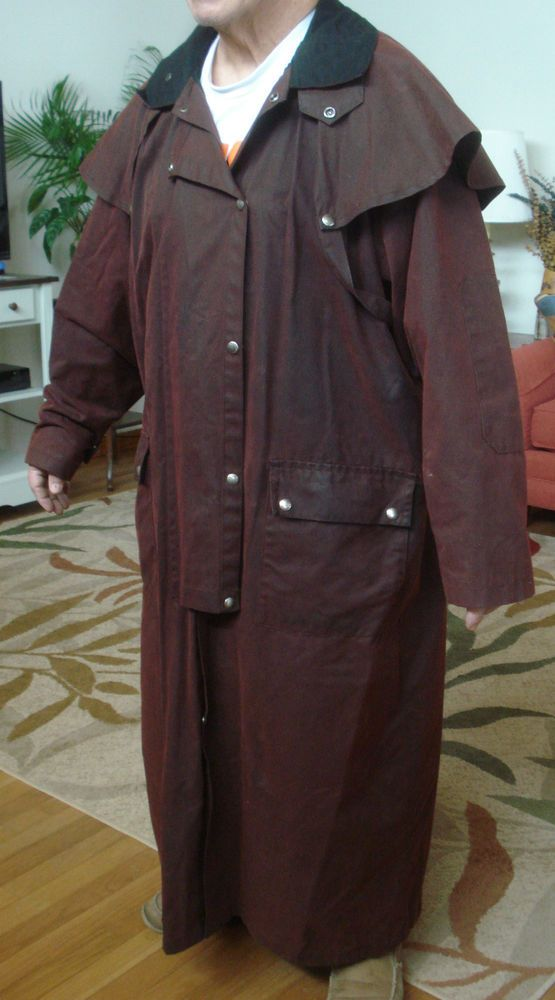 Australian Outback Western Drover Duster Oilcloth Coat Size Xl Jackets Western Dresses Coat