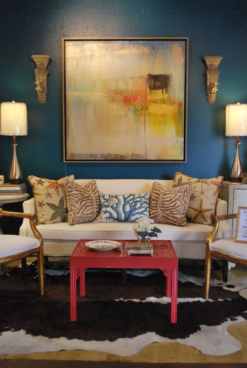 Alluring Turquoise Room Colors Decorating Ideas In Living Room Eclectic  Design Ideas With Alluring Accessories Animal Hide Rug Benjamin Moore  Galapagos ... Part 63