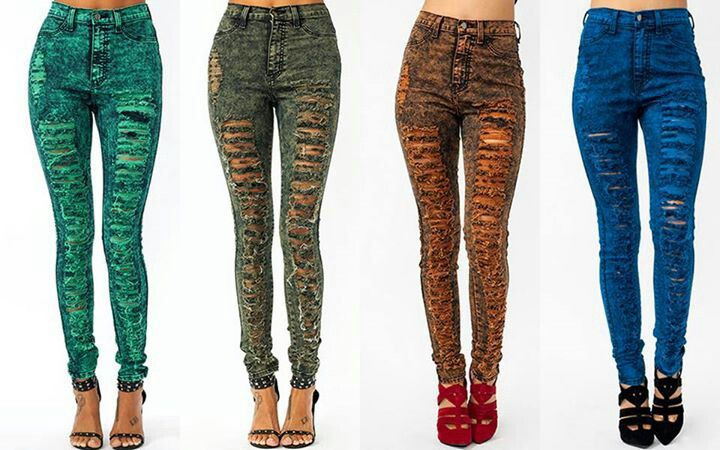 Rustic jeans! Love!