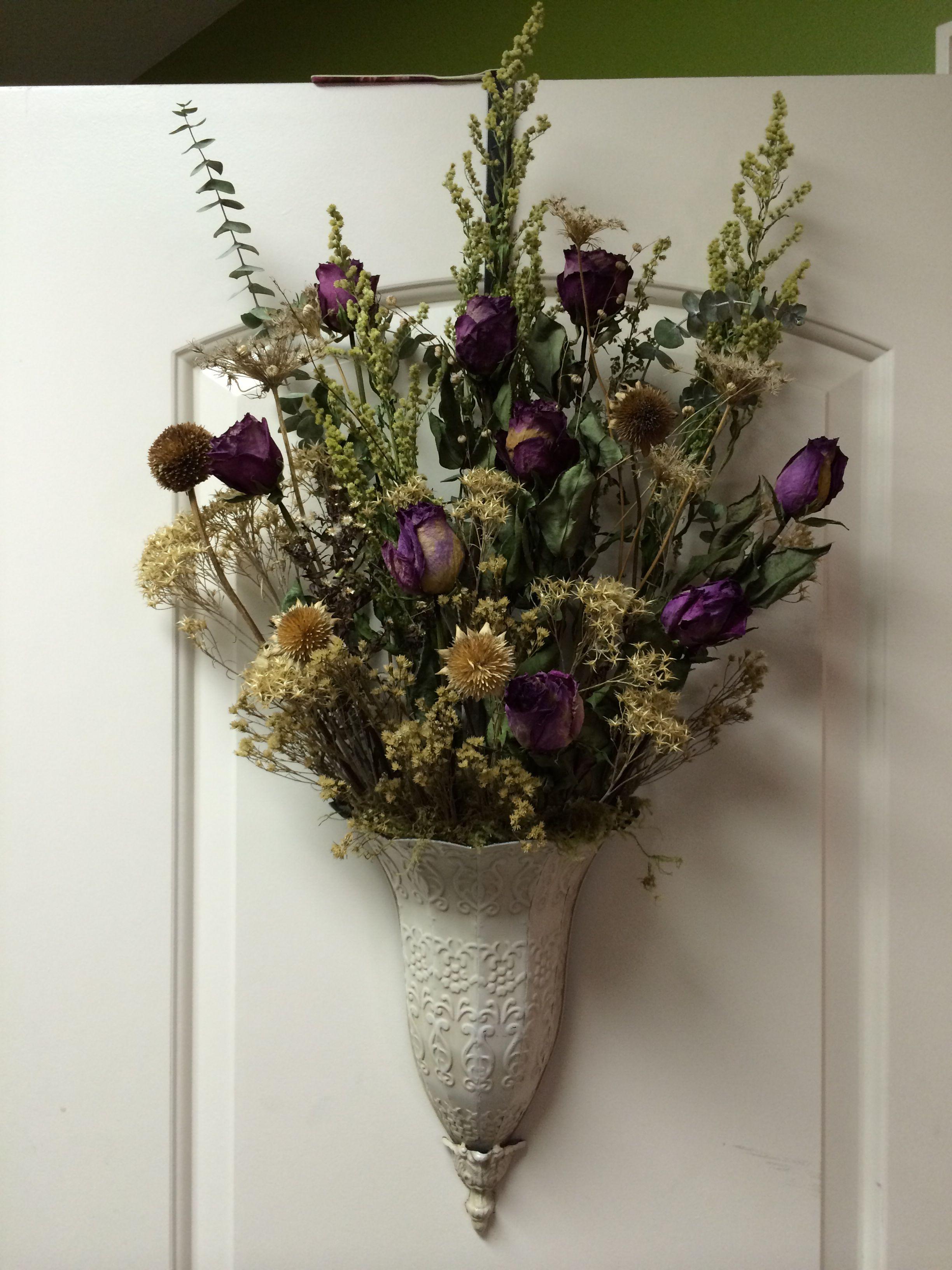 Dried wall arrangement.