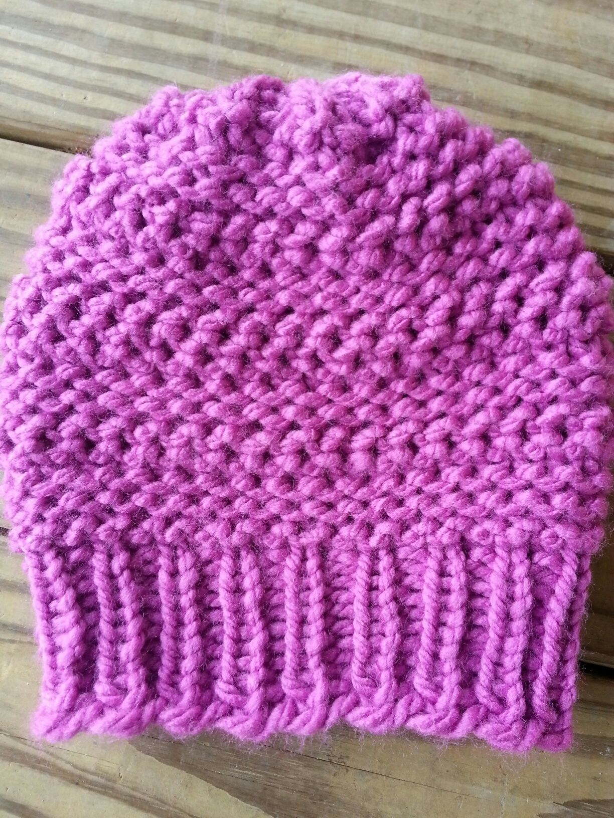 8a266774d30 Double Dip Stitch Hat Loom Knitting Projects