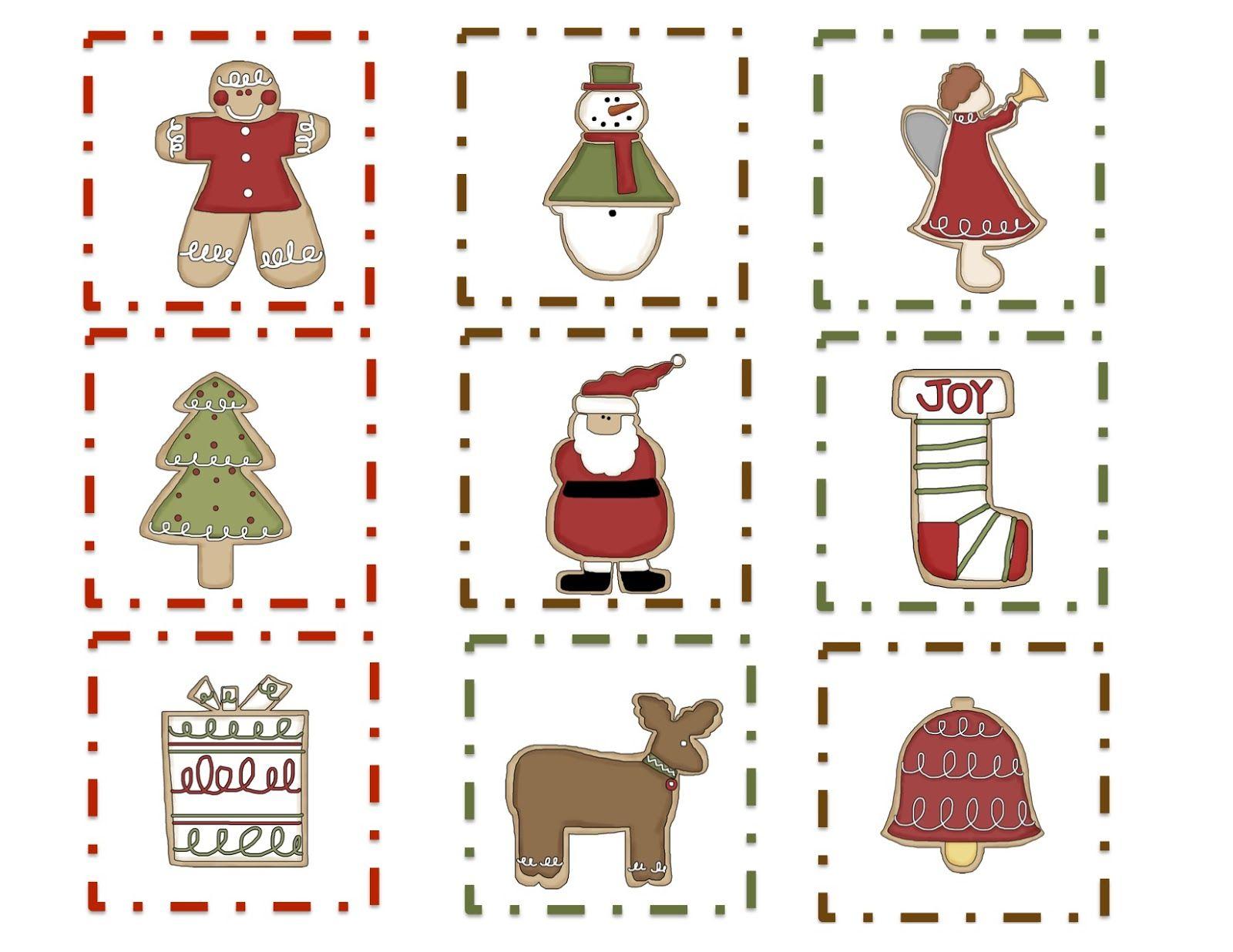Preschool Printables Free Christmas Cookie Pattern