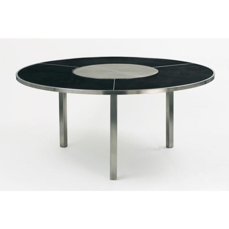 runder esstisch o-zon 185 cm schwarz m. drehscheibe | royal, Esstisch ideennn