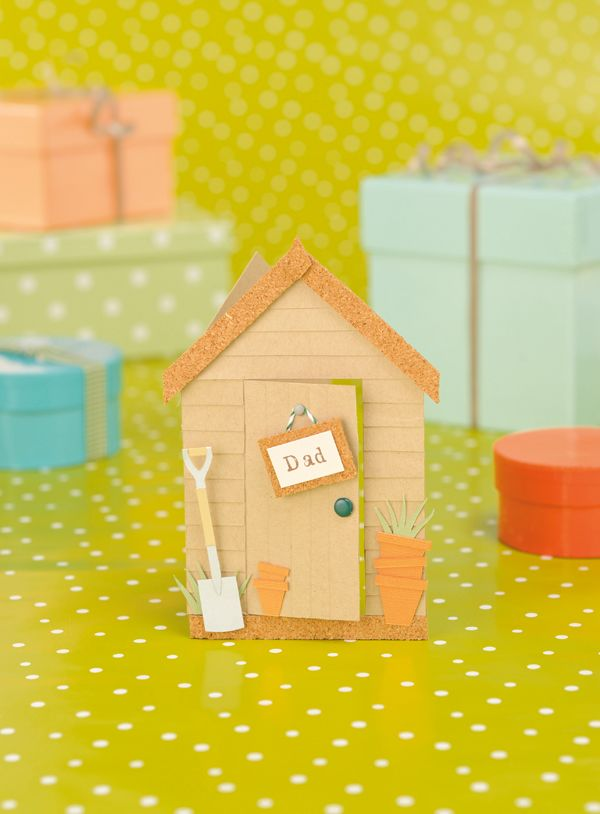 Make a garden shed card for Father's Day! Free template ...