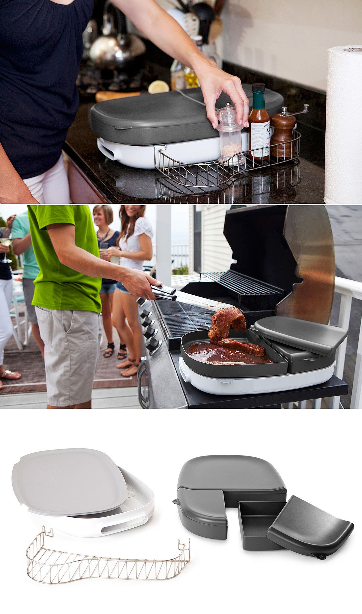 Porter is a multi purpose BBQ tray that eliminates extra trips