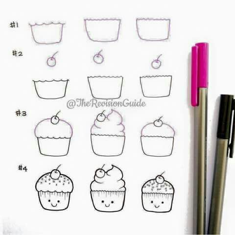 Cupcake Lets be Creative Pinterest Doodles Drawings and