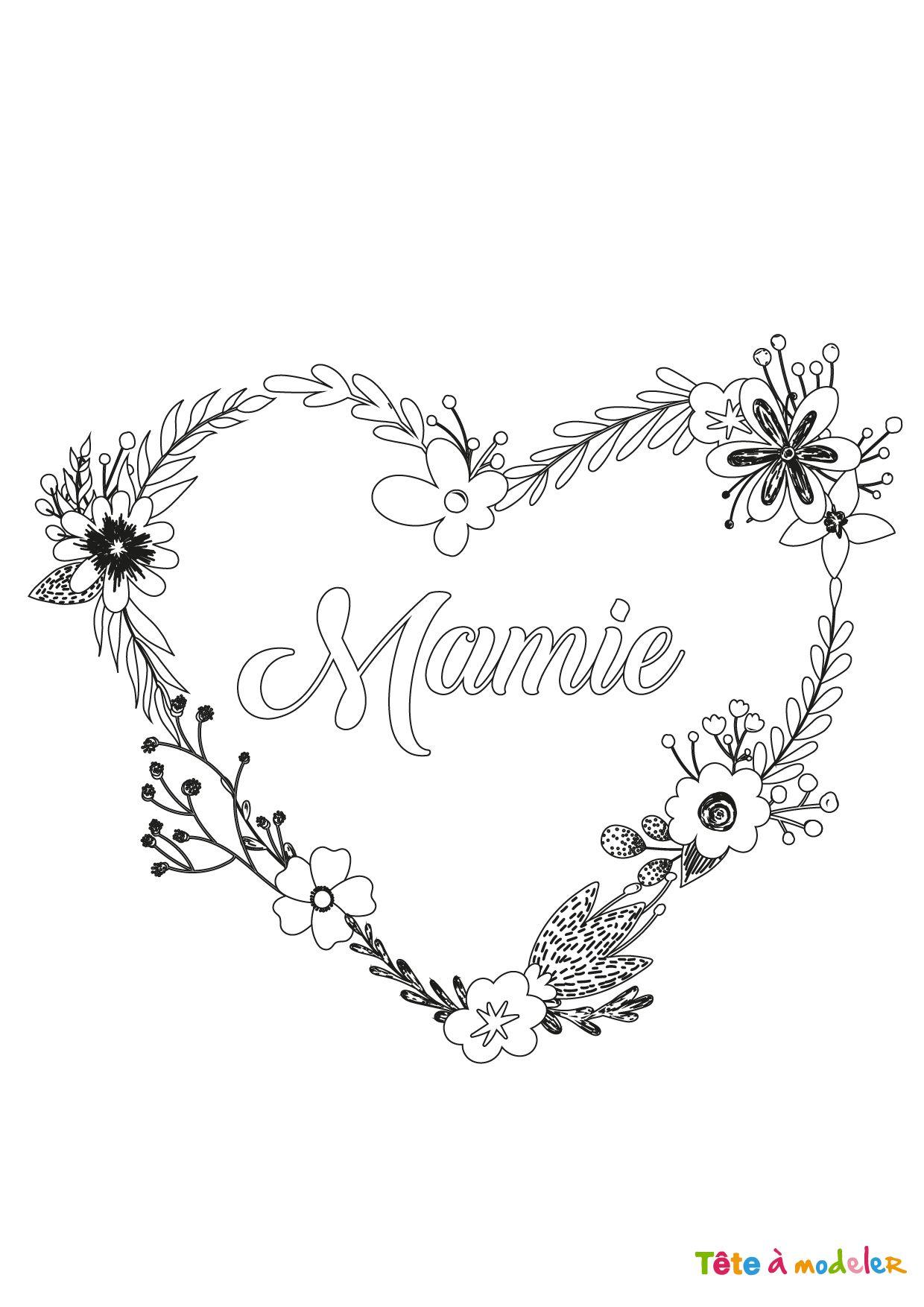 Coloriage Pour Mamie 5 Dessin Pour Mamie Bon Anniversaire Mamie Dessin Fete Des Meres